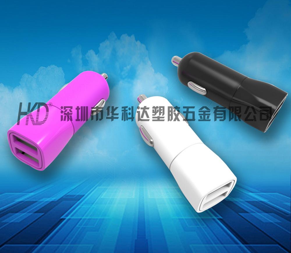 361双USB车充